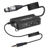 COMICA LINKFLEX AD1 Microphone Preamp Adapter XLR to 3.5mm Audio Converter for DSLR Camera Smartphone