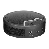 BOYA BY-BMM300 Microphone de conférence omnidirectionnel de bureau avec haut-parleur Couverture vocale à 360 ° Rayon de 2M Portée efficace Batterie intégrée pour PC Ordinateur portable Tablette Smartphone Vidéoconférence Enseignement en ligne Jeux