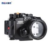 MEIKON SY-13 40メートル/ソニーA6000のための130フィート水中防水カメラハウジングブラック防水カメラケース