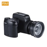 "Polo Sharpshots Auto Focus AF 33MP 1080P 30fps FHD 8X Zoomable Digital Camera w/ Standard + 0.5X Wide Angle + 24X Telephoto Long Lens 3.0"" LCD Bulit-in Flashlight PC Cam"