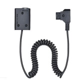 Andoer V-mount / Anton Bauer D-Tap to NP-FW50 DC Coupler Power Dummy Battery Adapter Coiled Cable for Sony a7 a7ii a7s a7r a7sii a7rii a6500 a6300 a6000 a5000 a5100 nex-5 nxx-7 Camera