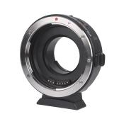 Montaje del anillo del adaptador de lente Viltrox EF-M1