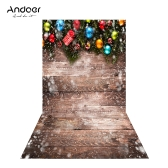 Andoer 1.5 * 0.9m/4.9 * 3.0ft Christmas Backdrop Photography Background