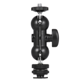 Andoer Multi-Function Double Ballhead Bracket