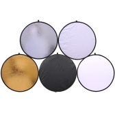 32-Inch 80CM Portable 5 in 1 Photography Collapsible Multi-Disc Lighting Reflectors Foldable Round Multi Disc Light Reflector for Studio Photography Situation
