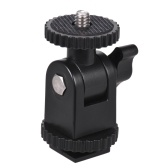 1/4 pulgadas Thread Mini montaje en frío para cámaras Videocámaras Smartphone Gopro LED Video Light Microphone Video Monitor Ring Flash Light Black