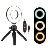 Portable 4.6 Inch LED Ring Light Lamp