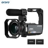ORDRO HDV-AE8 4K DV-Recorder mit WiFi-Digitalkamera und Camcorder