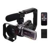 ORDRO HDV-AZ50 Videocamera digitale portatile Real 4K UHD 30FPS WiFi Videocamera