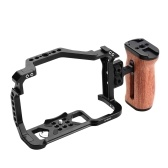 Andoer Aluminum Alloy Camera Cage + Wooden Side Handle Kit