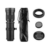 Fotocamera MF Super teleobiettivo zoom F / 8.3-16 420-800mm attacco a T con anello adattatore universale 1/4 filettatura