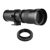 Camera MF Super Telephoto Zoom Lens F/8.3-16 420-800mm T Mount with Adapter Ring Universal 1/4 Thread