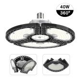 LED Garage Lights Deformable LED Ceiling Lights CRI80 LED Lamp with 3 Adjustable Panels