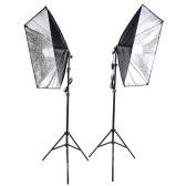 写真スタジオ キューブ傘のソフト ボックス ライト照明テント キット写真映像機器 2 * 135W 電球 2 * 三脚スタンド 2 * ソフト ボックス 1 * 肖像製品キャリング バッグ