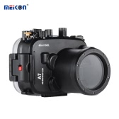 MEIKON SY-14 40m / 130ft Underwater Waterproof Camera Housing Black Waterproof Camera Case for Sony A7 A7R