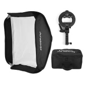 Andoer Photo Studio Multifunctional 60 * 60cm Folding Softbox with S-type Handheld Flash Speedlite Bracket with Bowens Mount and Carrying Bag for Portrait or Product Photography