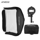 Andoer Photo Studio Multifonctionnel 60 * 60cm pliant Softbox avec type S Handheld flash Speedlite Bracket avec Bowens Mont et sac de transport pour Portrait ou photographie de produit