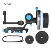 FOTGA DP500III Follow Focus FF A / B twardego stopu w / Speed ​​Crank Handle 0,8 mln Gear Set dla 15mm Rod Rig filmowa realizacje systemów