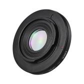 FD-AI Adaptador de montaje de lente Anillo de adaptador de lente de cámara con lente de corrección óptica Focus Infinity para Canon Objetivo de montaje de FD para Nikon AI F-Montaje Cuerpo de cámara SLR para disparo de macro
