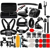 PULUZ 50 in 1 Accessories Total Ultimate Combo Kit with EVA Case Replacement for GoPro Cameras