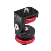 Andoer HS-01 Cold Shoe Mount Adapter Bracket Holder Aluminum Alloy with 1/4 Inch Screw