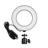 16cm/6inch Mini LED Ring Light Fill-in Lamp USB Powered 3 Lighting Modes 11 Levels Adjustable Brightness