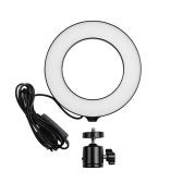 16 LED / 6 pollici Mini LED Ring Light Fill-in Lampada alimentata tramite USB 3 modalità di illuminazione 11 livelli di luminosità regolabile