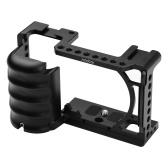 Andeor Video Camera Cage Rig Soporte de zapata fría Universal 1/4 3/8 Agujeros roscados