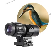 3X Magnifier Magnification Scope Sight with Flip-to-Side 20mm Mount for Bird Watching Hunting