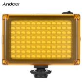 Andoer AD-96 Mini Portable On-LED kamery wideo Fill-In Light Panelu 5500K / 3200K CRI85 + z White & Pomarańczowe Filtry do kamery Canon Nikon Sony DSLR Camera