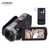 Andoer HDV-302S 3,0 Zoll LCD-Bildschirm Full HD 1080P 30FPS 20MP 16X Digital-Zoom-Anti-Shake-Digital Video DV Fernbedienung Auslöser Kamera Camcorder