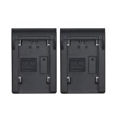 Andoer 2pcs plaque de batterie NP-FZ100 pour Neweer Andoer Dual / chargeur de batterie à quatre canaux pour Sony A7III A9 A7RIII A7SIII