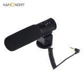K & F CONCEPT CM-500 Metall Nieren Richtungskondensator Shotgun Video Mikrofon