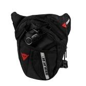 Männer Outdoor Portable Taille Gürteltasche Drop Beinbeutel Schwarz Nylon Reise Fahrrad Zyklus Berg Camping Kamera Reißverschluss Hüfttasche