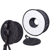 Lightweight plegable anillo redondo Speedlite Flash Softbox difusor reflector