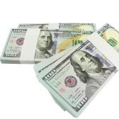 デノミネーション100USD Pack USDペーパーバー大気の小道具映画テレビのビデオのためのお金ノベルティ写真ツール(20個)