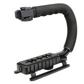 Ручной держатель Selens DV C-образной камеры Флэш-кронштейн U-типа DV Ручной стабилизатор движения Стабильная рамка для видеокамеры DSLR SLR