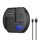 Andoer carregador rápido carregador de bateria da câmera digital dual-channel display lcd de entrada usb para nikon en-el15 bateria para nikon d750 d7200 d7100 d7000 d610 d800 d810