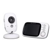 ベビーモニターワイヤレスビデオ高解像度ベビーナニーセキュリティカメラ双方向ラジオ温度ディスプレイモニター