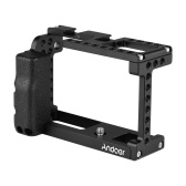 Andoer Aluminum Alloy Camera Cage Video Stabilizer with Cold Shoe Mount 1/4 Inch Screw Holes