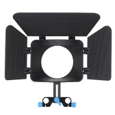 Matte Box Camshade for 15mm Rail Rod Follow Focus Rig Cage Movie Kit Film Making System for Nikon Canon DSLR Camera Camcorder DVR DV Recorder