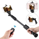 "YUNTENG VCT-388 Extendable Selfie Stick Pole Monopod Self-Timer with Removable Wireless BT Remote Shutter Controller Phone Clip 1/4"" Screw Carrying bag for iPhone 6 plus/6s/5s/5/4s for Samsung Smartphone with IOS 5.0 Android 4.3 System or above DSLR Camera"