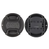 55mm Center Pinch Snap-on Lens Cap Cover Keeper Holder for Canon Nikon Sony Olympus DSLR Camera Camcorder