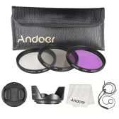 Andoer 49mm Filter Kit (UV+CPL+FLD) + Nylon Carry Pouch + Lens Cap + Lens Cap Holder + Lens Hood + Lens Cleaning Cloth