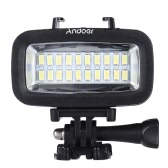 Andoer High Power 700LM  Diving Video Fill-in Light LED Lighting Lamp Waterproof 40M 1900mAh Built-in Rechargeable Battery with Diffuser for GoPro SJCAM Xiaomi Yi Sports Action Camera