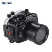 MEIKON SY-19 40m / 130 ft Underwater Camera Wodoodporna Obudowa Czarny Wodoodporny futerał na aparat Sony z wymiennymi A7 II Port