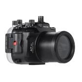 MEIKON SY-19 40m / 130ft Wasser wasserdichte Kamera-Gehäuse Schwarz Wasserdichte Kameratasche für Sony A7 II mit austauschbaren Hafen