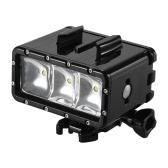 Andoer LED étanche plongée sous-marine Vidéo Fill-in Light Lamp Spotlight 3 Modes Underwater 30m avec des piles rechargeables double (1160mAh * 2) pour GoPro Hero SJCAM Xiaomi Yi Sport Action Camera