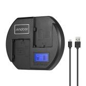 Andoer carregador rápido carregador de bateria da câmera dual-channel display lcd digital entrada USB para canon lp-e6 bateria para canon eos 60d 70d 80d 6d 6d2 7d 7d2 5dsr 5d2 5d3 5d4 ii ii iii
