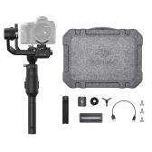 DJI Ronin-S Essentials Kit palmare 3 assi per stabilizzatore palmare 3,6 kg / 7,9 libbre Payload All-in-One 12 ore di autonomia con treppiede per DSLR e fotocamere mirrorless per Canon 6D MK II / 5D MK III / 5D MK IV per Panasonic GH3 / GH4 / GH5 per Nikon D850